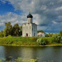 Пейзаж с лодкой и храмом :: Olcen Len