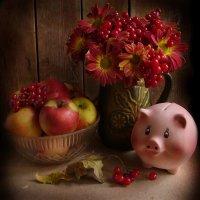 Осенний натюрморт с хрюшкой. :: Nata