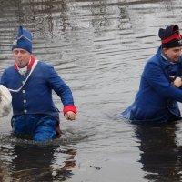 Французы на Березине 2018 г Французы переправляются через реку Березина! :: Андрей Буховецкий