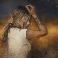 арт-портрет по фотографии из инстаграма :: Абу Асиялов
