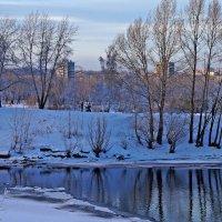Зимний вечер на Енисее :: Екатерина Торганская