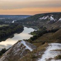 Встречая рассвет на меловых холмах  Август 2015 :: Юрий Клишин