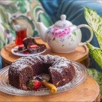 Балконное чаепитие с кексом :: Ирина Лепнёва