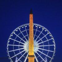 Обелиск и Большое колесо на площади Согласия :: Георгий А