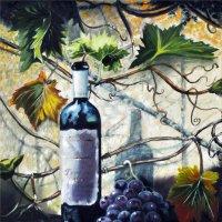 Виноградное вино, масло, 40х60 :: Людмила Ковалева