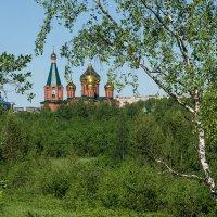 Ухтинский храм в зелёном море тайги в редкие тёплые деньки. :: Николай Зиновьев