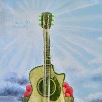 Креативная подача арбуза на праздничный стол для гитариста. :: Лара Гамильтон