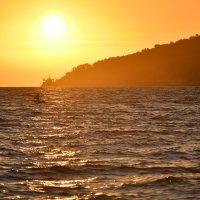 Сапсерфинг на закате :: Денис Тар