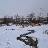 Шахты. Первый январский снег в долине реки Грушевки. :: Пётр Чернега