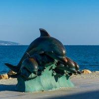 Дельфины на волне :: Grey Bishop