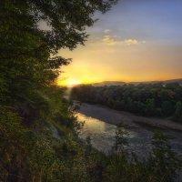 Утро на реке Пшеха :: Геннадий Клевцов