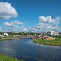 Тверь. Строительство пешеходного моста на Тьмаке. :: Михаил (Skipper A.M.)
