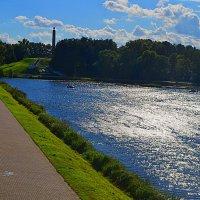 Великие Луки, река Ловать, август 2020... :: Владимир Павлов