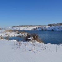 Шахты. Грушевское водохранилище после февральского снегопада. :: Пётр Чернега