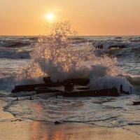 Волны Балтики на закате :: Александр Степовой