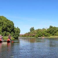Туристы - водники на реке Тезе. :: Сергей Пиголкин