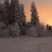 Зимний вечер на Черной скале, Таганай. :: Galina Serebrennikova