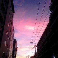 закат   между домами :: миша горбачев