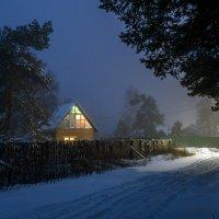 Новогодняя ночь в поселке Березка :: Сергей