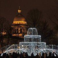 Петербург новогодний. Зимний фонтан Александровского сада :: Марина Колядина