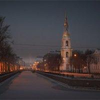Крюков канал зимним вечером... :: Сергей Кичигин