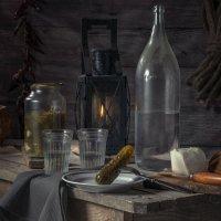 Вечером в сарае ( или тайная встреча двух друзей, не пьянки ради, а общения для) :: Алексей Кошелев