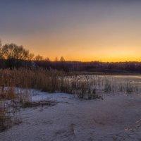 Закат на озере :: Сергей Цветков