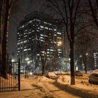Снежный вечерний Киев :: Олег