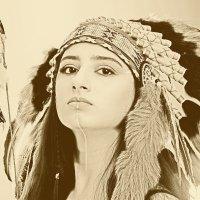 Портрет в индейском роуче :: Валерий Гришин