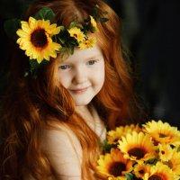 Портрет девочки с подсолнухами :: Валерий Фролов