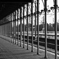 на платформе Петергофского вокзала :: Елена