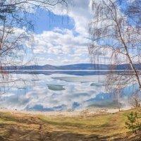Начало Мая на озере Тургояк. (панорама) :: Алексей Трухин