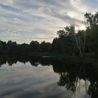 "База отдыха""Голубое озеро "" закат. :: ОКСАНА ЮРЬЕВНА ШВЕЦ"