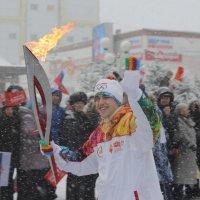 Олимпийский огонь в Биробиджане :: Владимир Брызгалов