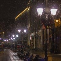 Столешников переулок. Снег. :: Екатерина Рябинина