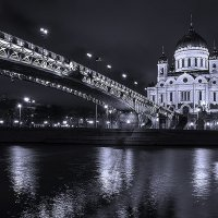 Temple Bridge and Cathedral of Christ the Savior in Moscow :: Александр Матюхин
