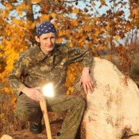 портрет мужчины с топором :: Инесса Яскевич