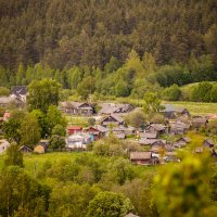 деревенька :: Мария Агапудова