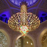 Люстра в Мечети шейха Заеда в Абу Даби :: Рустам Илалов