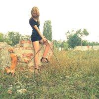 Девушка и собака :: Настасья Малявка