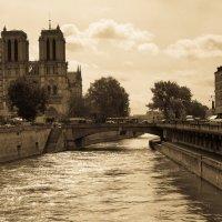 Париж - вид со стороны Сены на собор :: Александр Беляков