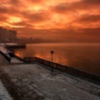 И плавился закат в морозной Ангаре :: Александр | Матвей БЕЛЫЙ