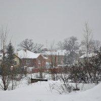 Зима, зима запорошила дома... :: Алексей Бубнов