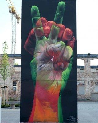 Новости в фотографиях - Лучшая подборка стрит-арт 2013