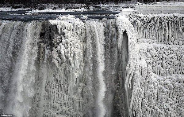 как замерз ниагарский водопад