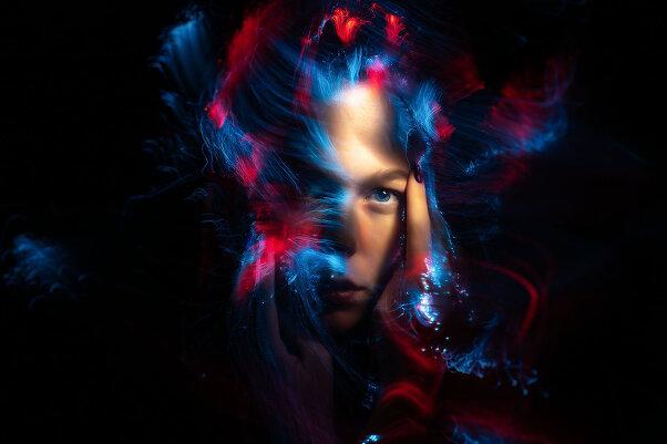 Портреты втехнике световой кисти