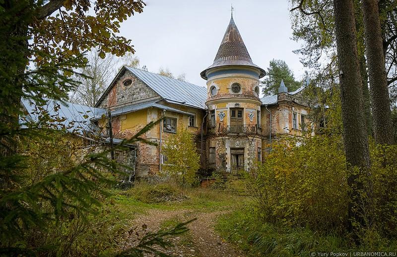 Замок в лесу фото