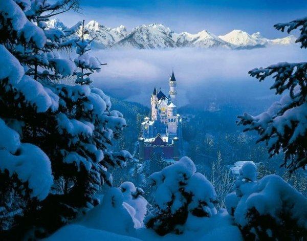 .. Невероятная красота замка Нойшванштайн. В зимний период он особенно красив! ...