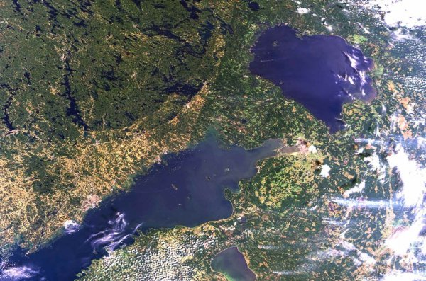 фото России из космоса
