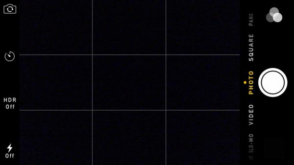 Мобильная фотография - Композиционная сетка в интерфейсе iPhone 6